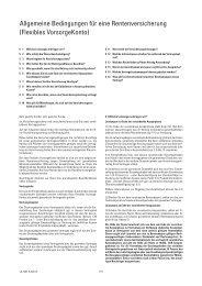 Flexibles VorsorgeKonto - CosmosDirekt