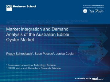 Market Integration and Demand Analysis of the Australian Edible ...