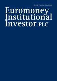 Interim Report 2008 - Euromoney Institutional Investor PLC