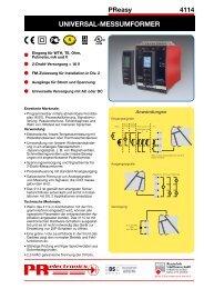 Datenblatt PReasy 4114 - Industrie-Schweiz