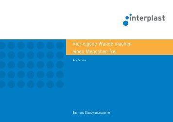 Prospekt Bau-und Staubwand - INTERPLAST Kunststoffe GmbH