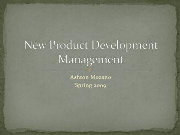 New Product Development Management - Ned Dimitrov
