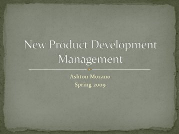 New Product Development Management - Ned Dimitrov