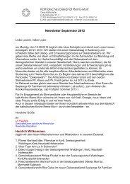 Katholisches Dekanat Rems-Murr Newsletter September 2012