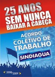 Clique aqui para visualizar o Acordo Coletivo 2008/2009 - Sindiagua