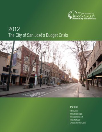 The City of San Jose's Budget Crisis - Silicon Valley Community ...