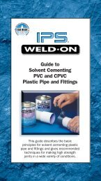 Guide to Solvent Cementing PVC and CPVC Plastic ... - Glynwed Asia