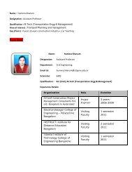 Page 1 Name : Humera Khanum Designation : Assistant Professor ...