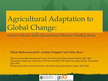Global change - Australian Agricultural and Resource Economics ...