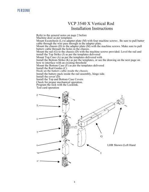 VCP 3540 X Vertical Rod
