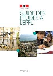GUIDE DES ETUDES A L'EPFL - Master | EPFL