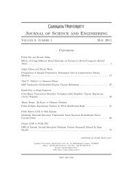 Journal of Science and Engineering - Çankaya University Journal of ...