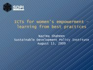 ICTs for women's empowerment – learning from best practices