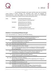 Das Quartal 1/2012 - Kammer der Architekten und ...