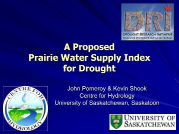 A Proposed Prairie Water Supply Index for Drought