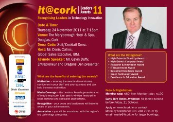 Download Conference Brochure - IT@Cork