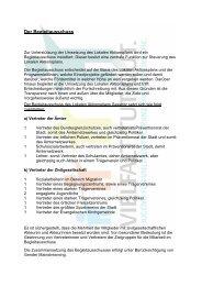 Der Begleitausschuss - Lokaler Aktionsplan Sassnitz