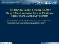 marine spatial planning and offshore renewable ... - Coastal GeoTools