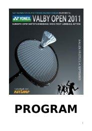 VIGTIG INFO Om Yonex Valby Open (i Lyngby) - Sankt Annæ IF