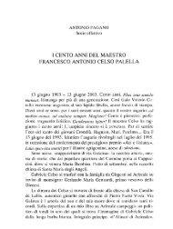 Pagano A., I cento anni del maestro Francesco Antonio