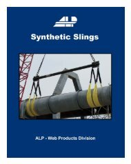 Synthetic Web Sling Catalog - ALP Industries Inc.