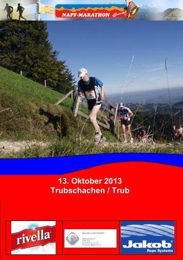 13. Oktober 2013 Trubschachen / Trub - Napf-Marathon