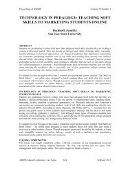 teaching soft skills to marketing students online - Asbbs.org