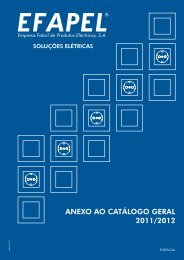 ANEXO AO CATÁLOGO GERAL 2011/2012 - Efapel