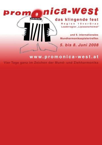 5. bis 8. Juni 2008 www.promonica-west.at - Tanz mit Franz