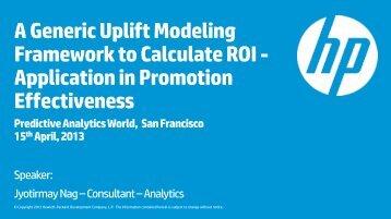 Title (46 pt. HP Simplified bold) - Predictive Analytics World