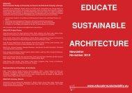 EDUCATE SUSTAINABLE ARCHITECTURE - Educate Sustainability