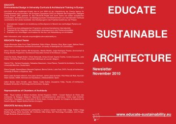 EDUCATE SUSTAINABLE ARCHITECTURE - Educate Sustainability