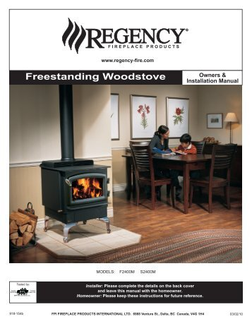 freestanding Woodstove - Regency Fireplace Products