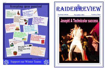 Raider Review November 2011 - Fryeburg Academy