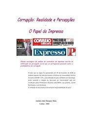 A imprensa como factor explicativo do discurso social da corrupção