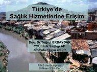 türkiye'de sağlık hizmetlerine erişim
