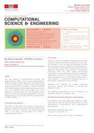 COMPUTATIONAL SCIENCE & ENGINEERING - Master | EPFL