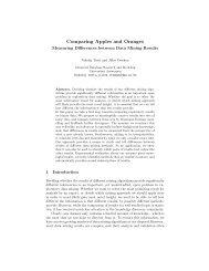 Comparing Apples and Oranges - Universiteit Antwerpen