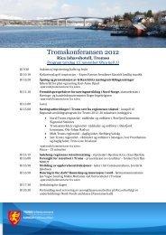programmet for konferansen her - Troms fylkeskommune