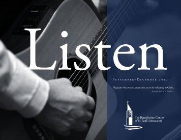 Download Latest Benedictine Center Publication - St. Paul's ...