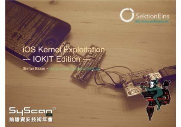 iOS Kernel Exploitation --- IOKIT Edition - Reverse Engineering Mac ...