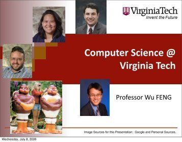 Computer Science @ Virginia Tech - Research