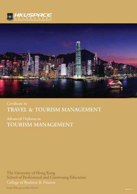 TRAVEL & TOURISM MANAGEMENT TOURISM ... - HKU Space