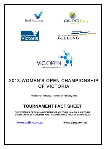 2013 WOMEN'S OPEN CHAMPIONSHIP OF VICTORIA ... - Golf NSW