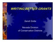 WRITING BETTER GRANTS - Nevada Division of State Lands