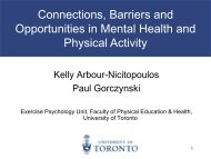 Physical Activity - Minding Our Bodies