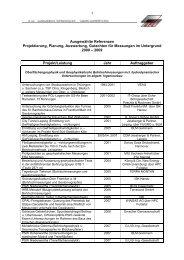 Ausgewählte Referenzen Projektierung, Planung, Auswertung ...