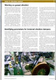 Warning on genset vibration Identifying parameters for ... - Geislinger