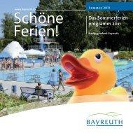 Anmeldeschein zum Sommerferienprogramm 2011 - Stadt Bayreuth