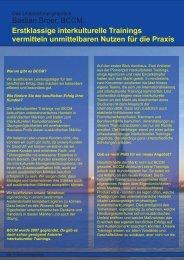 Bastian Broer, BCCM: Erstklassige interkulturelle Trainings ...